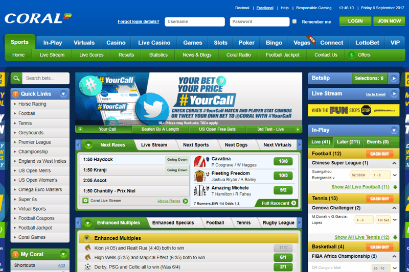 Coral Sportsbook Site PayPal