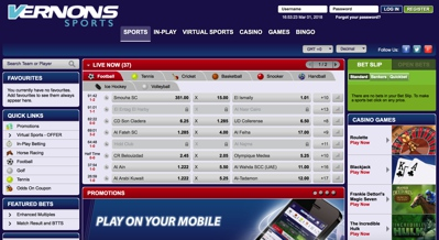 Vernons Sports Screenshot